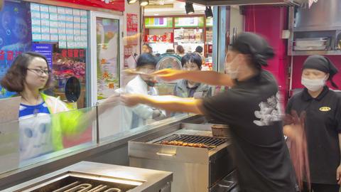 Shanghai fast food timelapse 03 Footage