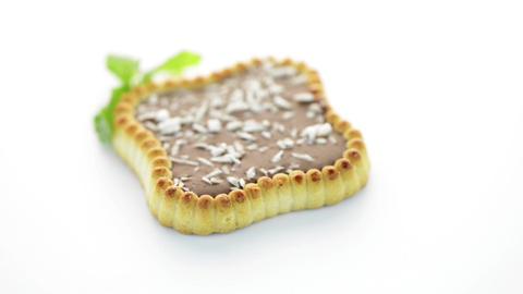 Chocolate tart cookies Stock Video Footage