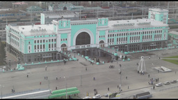 Railway station in Novosibirsk city, Russia Footage