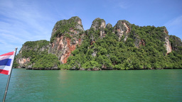panorama rocky island Footage
