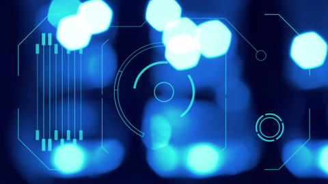 hologram interface graphics, abstract screen motio Stock Video Footage