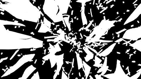 Glass broken or shattered slow motion. Alpha, Stock Animation