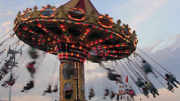 Carnival Ride - Swings stock footage