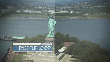 Page Flip Display Loop - Apple Motion and Final Cut Pro X Template Apple Motion 模板