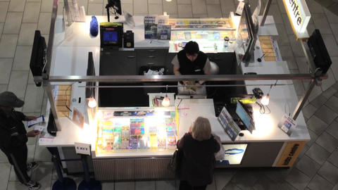 Top shot of people buying lottery ticket Live Action