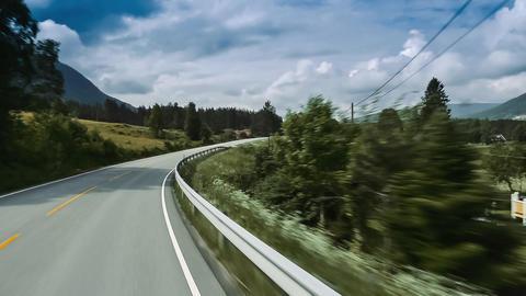 Scenic Drive, Norwegian Sea, Norway Footage