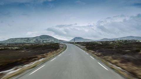 Scenic Drive, Rondane Nationalpark, Norway Footage