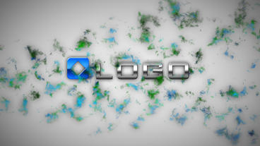 3D Blue Particle Smoke Cloud Business Logo Reveal stock footage