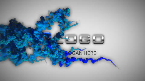 3D Blue Particle Smoke Cloud Business Logo Reveal After Effects Template