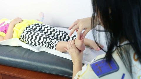 Massage in girls foot Footage