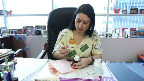 Doctor writing prescription Stock Video Footage