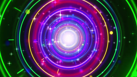 Glow Rings Stock Video Footage