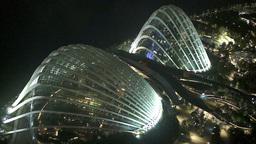 Singapore Night Aerial View On Pavilion Gardens By stock footage