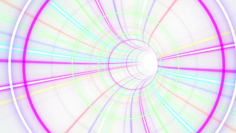 Tunnel Neon Tube BS 2w 4k Stock Video Footage