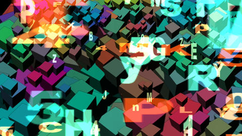 Blocks and Letters Stock Video Footage