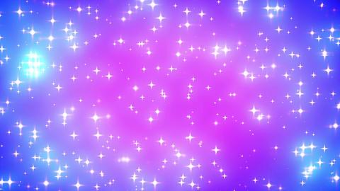 Pink Nebula Looping Glowing Stars Background 2 Den Animation