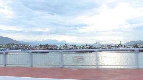 Nha Trang, Vietnam July 10, 2014: Drive. Bay. Asia Stock Video Footage