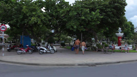 Nha Trang, Vietnam July 10, 2014: Asian City Road Footage