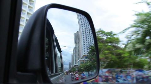 Nha Trang, Vietnam July 10, 2014: Mirror and Asian Footage