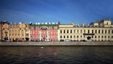 View of St. Petersburg Film Tilt Footage