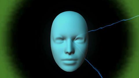 Mystic digital Mask Stock Video Footage
