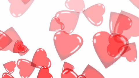 Floating Hearts Animation Stock Video Footage