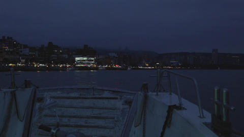 cinematic 2 - tamsui evening from ferry Footage