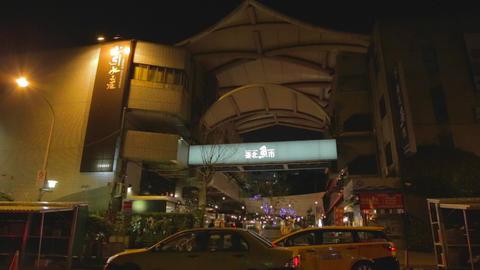 Taipei fish market entrance Footage