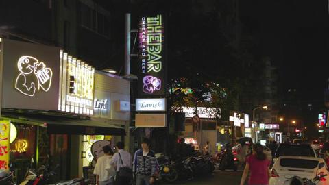people walking on tea street - dunhua Stock Video Footage