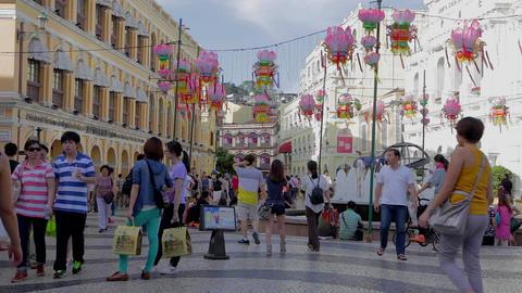 senado square - near business tourism center Stock Video Footage