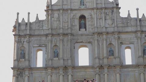 close - high low tilt - Ruins of St. Paul's Footage