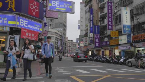 students walk on shida street Footage