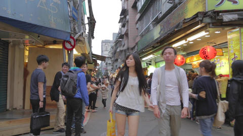 shida students buy drinks in market area Stock Video Footage