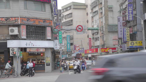 famous shida street at roosevelt intersection Footage