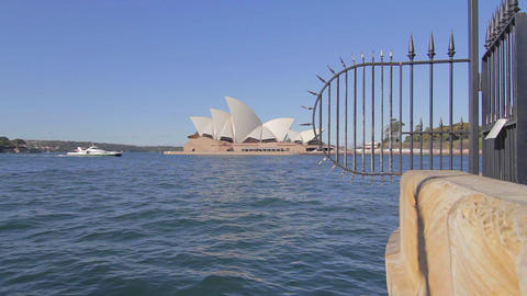 cinematic wide dolly shot of the the sydney opera  Footage