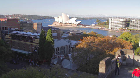 sunny aftertoon aerial - sydney opera house, the r Footage