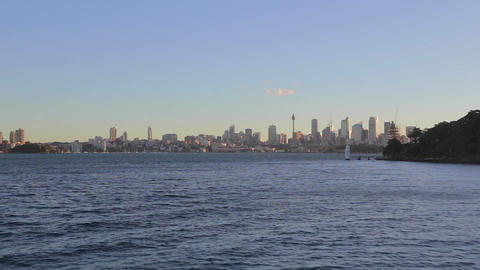a view of the CBD skyline Sydney on a sunny aftern Footage