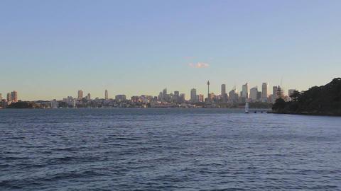 a view of the CBD skyline Sydney on a sunny aftern Footage
