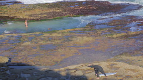 Bronte Beach to Waverley Cemetery various shots Stock Video Footage
