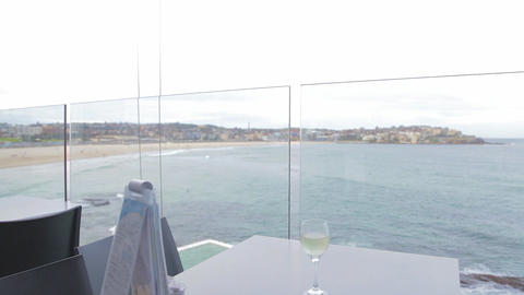a pan from the bondi iceberg balcony overlooking t Footage