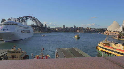 great view of circular quay, opera house, and the  Live影片