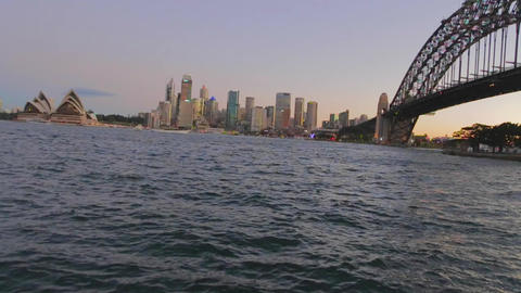 a beautiful post sunset view of the sydney harbour Stock Video Footage