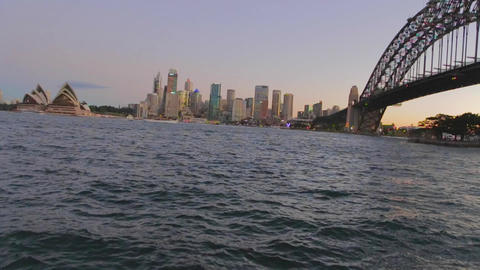 a beautiful post sunset view of the sydney harbour Footage