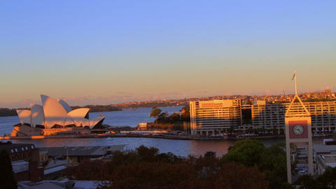 a sunset time lapse of the opera house shot from t Live影片