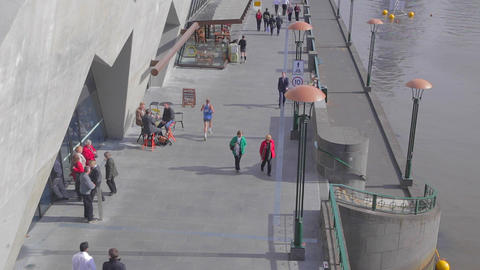 2 shots wide angle & close shots on south bank & y Stock Video Footage