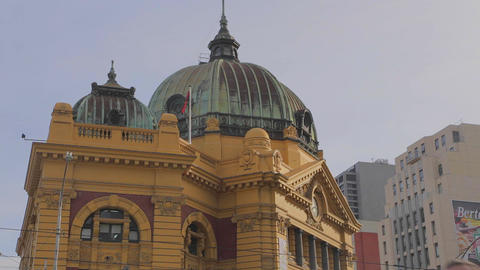 3 unique angles of Flinders street station, dolly  Footage