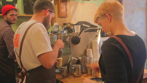 some scenes from a popular coffee shop on Coventry Footage