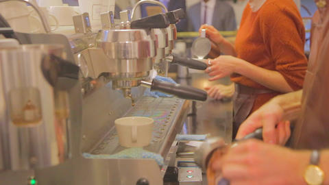 some scenes from a popular coffee shop on Little B Stock Video Footage