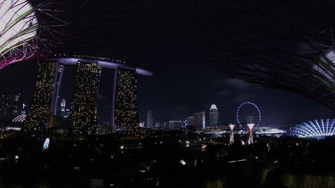 Night Singapore cityscape timelapse Footage