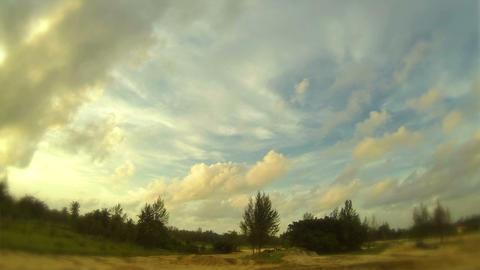 Setting sun landscape Footage